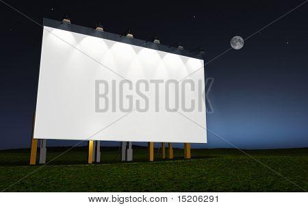 advertising wall night