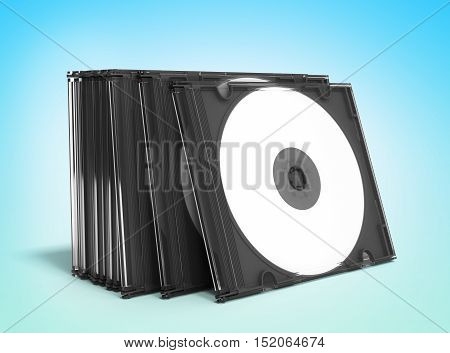3D Cd Covers Open On Gradient Background
