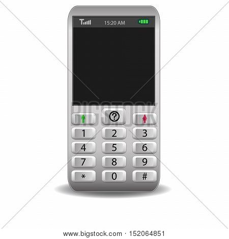 The mobile phones, original design vector illustration.