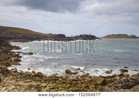 Stormy sea at Hell Bay, Bryher, Isles of Scilly, England