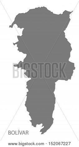 Bolivar Ecuador Map grey illustration high res