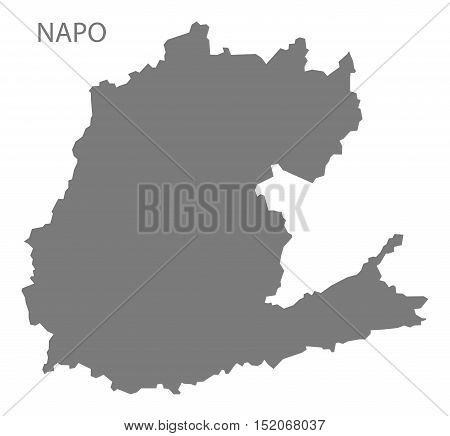 Napo Ecuador Map grey illustration high res