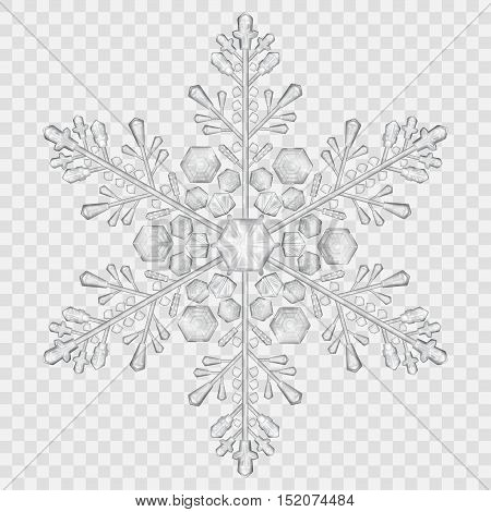 Big Translucent Crystal Snowflake