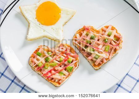 Fried Egg And Pizza