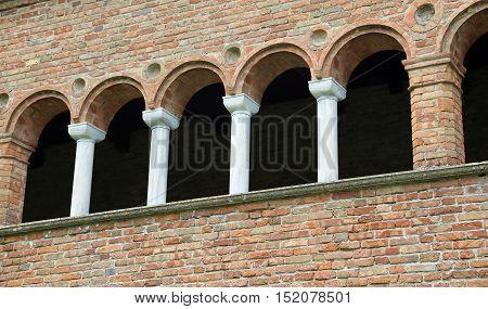 Historic Building Called Palazzo Della Ragione In Italy