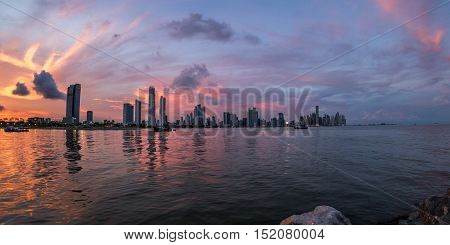 Sunset In Panama City, Panama