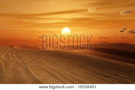 An image of a nice desert sunset