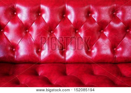 The luxury of classic red leather texture and background.