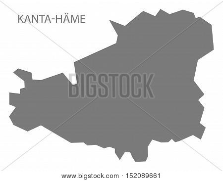 Kanta-Hame Finland Map grey illustration high res