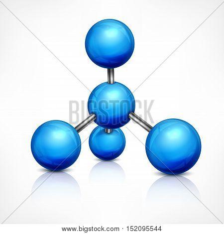 Molecule In Blue On White