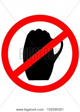 No beer sign. Vector illustration with beerglass.Prohibition sign icon.