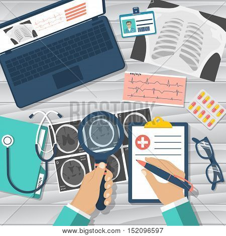 Medical Workplace Vector