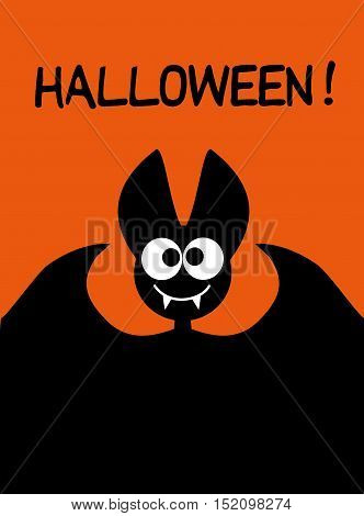 Halloween background idea for a festive printed products or background for the site with black bat Halloween Happy vector kids funny background with cartoon bat Halloween 31 Oct Halloween sale