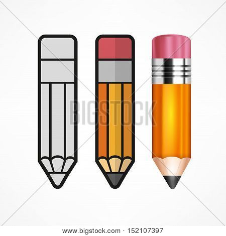 Different Style Pencils