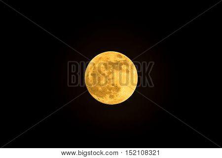 Full moon in a dark sky night