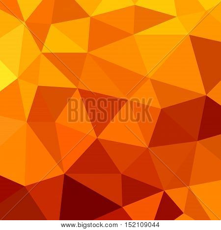 abstract vector geometric triangle background - orange and brown