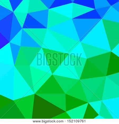 abstract vector geometric triangle background - green and blue