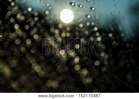 Bokeh light background ,Bokeh , Sunlight, Sun ,Abstract