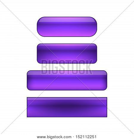 vector isolated blank web buttons set - violet