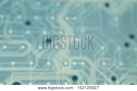 blur photo of keyboard plastic sheet circuit with select tone color - blue