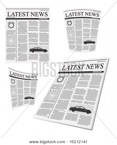vector newspaper set