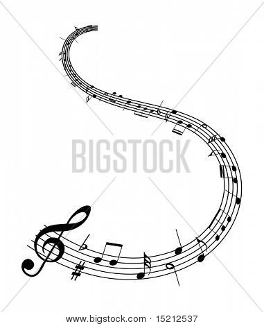 vector music notes background poster