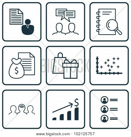 Set Of 9 Universal Editable Icons For Seo, Airport And Project Management Topics. Includes Icons Suc