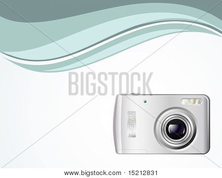 vector digital camera on background