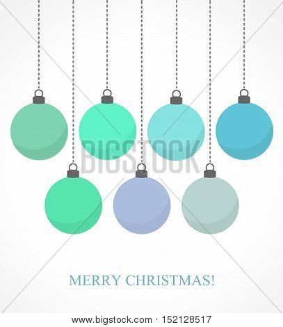 Christmas Blue Baubles