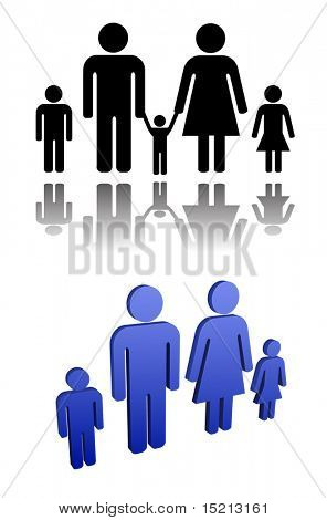 vector male and female - family person sign