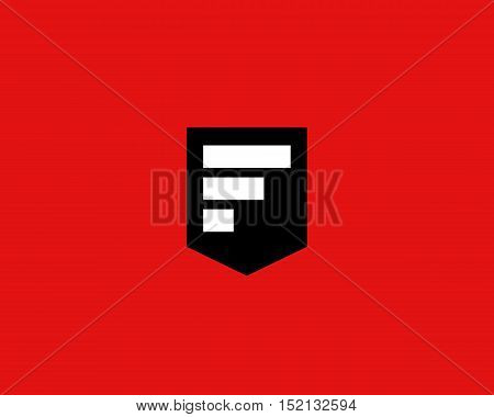 Abstract letter F shield logo design template