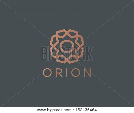 Premium letter O logo icon vector design. Luxury jewelry frame gem edge logotype. Print monogram initials stamp sign symbol