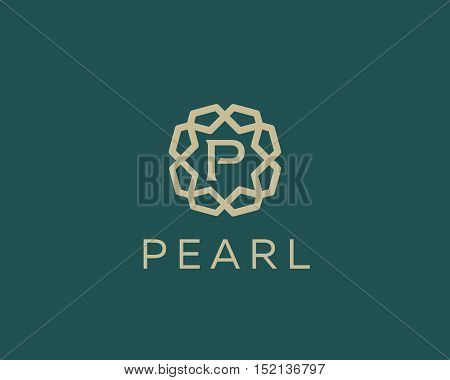 Premium letter P logo icon vector design. Luxury jewelry frame gem edge logotype. Print monogram initials stamp sign symbol