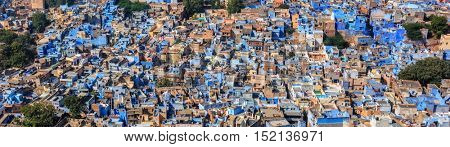 Aerial panorama of Jodhpur, also known as