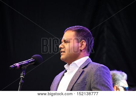London UK. 16 October 2016. Rajesh Agarwal Deputy Mayor for Business attends official opening ceremony of Diwali festival