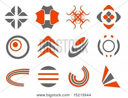 vector abstract design elements set