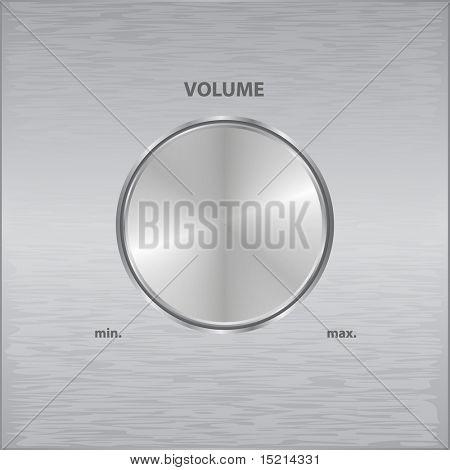 vector metal volume knob