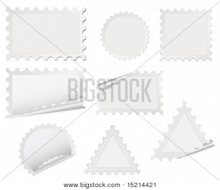 vector post stamp set