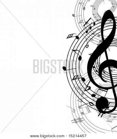 music abstract background