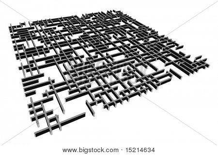 Vektor 3d labyrinth