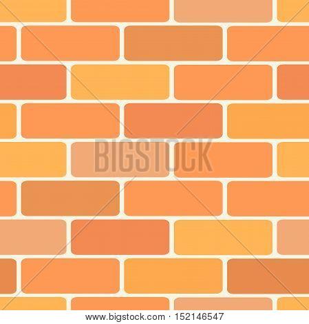 Brick wall tiles seamless pattern. Flat graphic design illustration