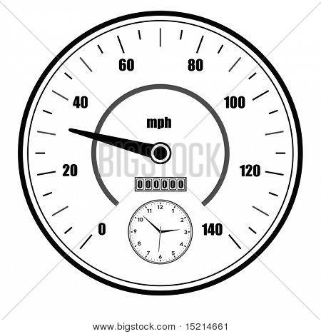 vector speedometer symbol