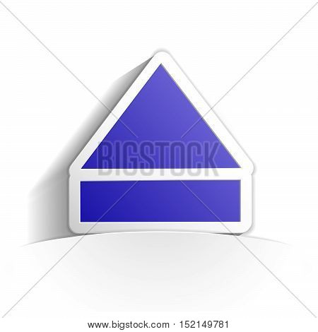 eject icon in paper style full vector