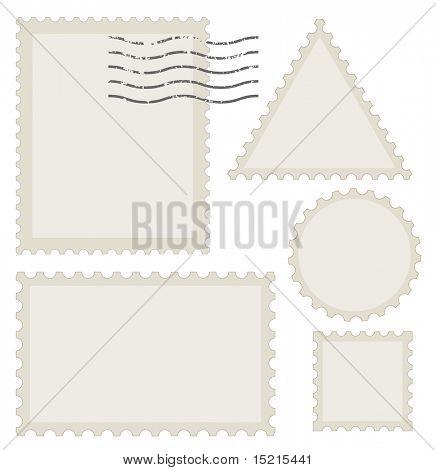 conjunto de sello de post viejo