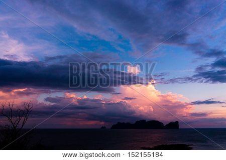 Darkening Heavens Sunset Glow