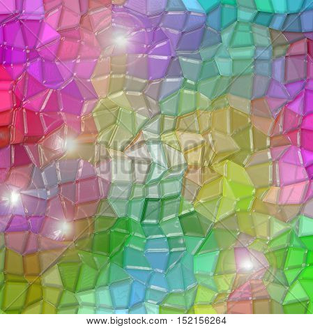 Abstract coloring background of the color harmonies gradient with visual mosaic and stained glass effects
