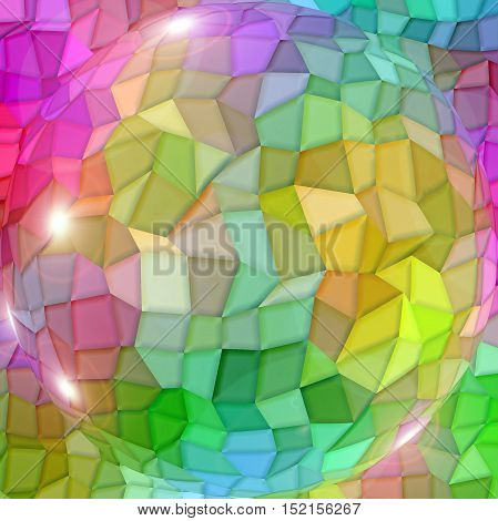 Abstract coloring background of the color harmonies gradient with visual mosaic,lighting and spherize effects
