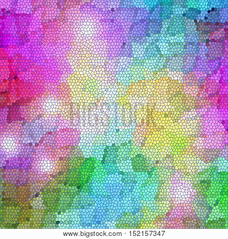 Abstract coloring background of the color harmonies gradient with visual mosaic,lighting and stained glass effects