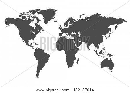 World map illustration isolated on a white background