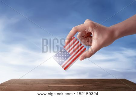 Woman Hands In An Election Shall Give Her Vote